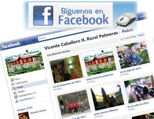 Agreganos al facebook! Vicente Caballero Hotel Rural Las Palmeras