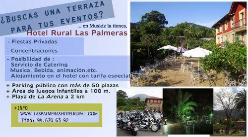 Reserva la terraza con nosotros en el Hotel Rural Las Palmeras